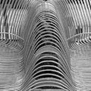 Metal Strips In Black And White Poster