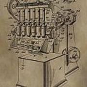 Metal Working Machine Patent Poster