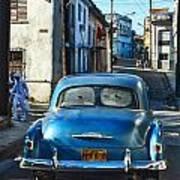 Metallic Blue And Santeria Poster