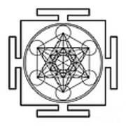 Metatron's Cube - Black Poster