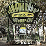 Metropolitain Entrance Paris Poster