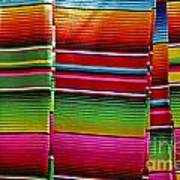 Mexican Blankets Cancun Poster
