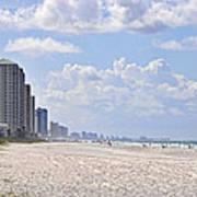 Mexico Beach Coastline Poster