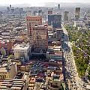 Mexico City Cityscape Poster by Jess Kraft