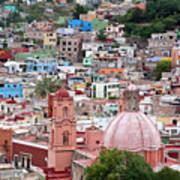 Mexico, Guanajuato, View Of Guanajuato Poster