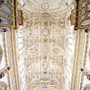 Mezquita Cathedral Ceiling In Cordoba Poster