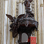Mezquita Cathedral Pulpit In Cordoba Poster by Artur Bogacki