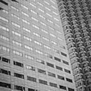 Miami Architecture Detail 1 - Black And White Poster