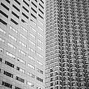 Miami Architecture Detail 2 - Black And White Poster by Ian Monk
