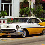 Miami Beach Classic Car Poster