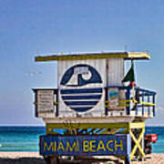 Miami Beach Lifeguard Station Poster
