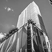 Miami Downtown Buildings - Miami - Florida - Black And White Poster by Ian Monk
