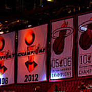 Miami Heat Banners Poster by J Anthony