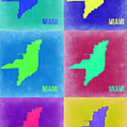 Miami Pop Art Map 3 Poster