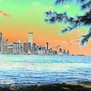 Miami Skyline Abstract II Poster