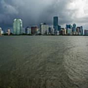 Miami Skyline Storm Poster