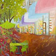 Miami's Coconut Grove Shops Poster by Douglas Ann Slusher