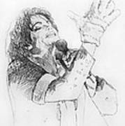Michael Jackson Passion Sketch Poster