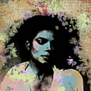 Michael Jackson - Scatter Watercolor Poster