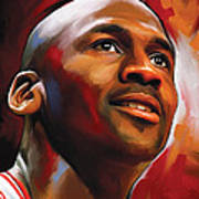 Michael Jordan Artwork 2 Poster