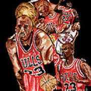 Michael Jordan Poster by Israel Torres