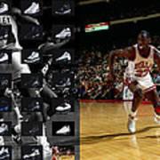 Michael Jordan Shoes Poster
