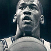Michael Jordan Shots Free Throw Poster by Retro Images Archive