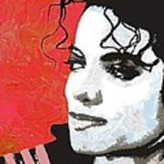 Michael Red And White Poster