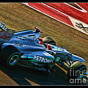 Michael Schumacher Silver Arrows Poster