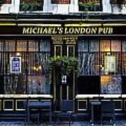 Michael's London Pub Poster by David Pyatt