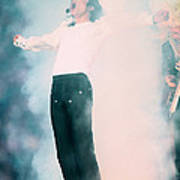 Micheal Jackson Performing On Stage Poster