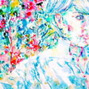 Michela In The Garden Poster