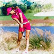 Michelle Wie Plays A Shot On The 6th Hole Poster