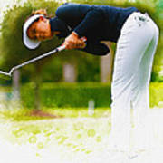 Michelle Wie  Putt On The Tenth Green Poster
