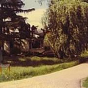 Michigan Farmhouse Landscape Poster