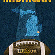 Michigan Football Poster Poster