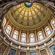 Michigan State Capitol Dome In Color  Poster