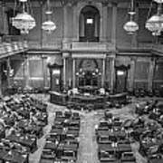 Michigan Tate Senate Black And White From Above Poster