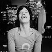 Mick Jagger Laughing Poster
