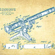 Microscope Patent Drawing From 1915 - Vintage Paper Poster