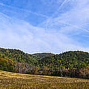Mid-morning Panorama At Cades Cove Poster