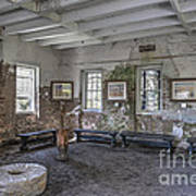 Middleton Place Rice Mill Interior Poster
