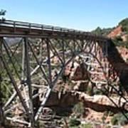 Midgley Bridge Over Oak Creek Canyon Poster