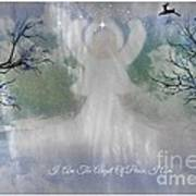Midnight Angel Of Peace Poster by Sherri  Of Palm Springs
