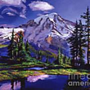 Midnight Blue Lake Poster by David Lloyd Glover