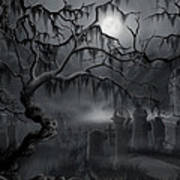 Midnight In The Graveyard  Poster