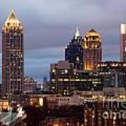 Midtown Atlanta Skyline At Dusk Poster