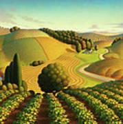 Midwest Vineyard Poster