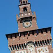 Milan, Italy. Castello Sforzesco Poster