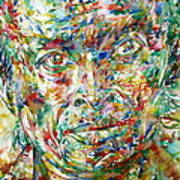 Miles Davis Watercolor Portrait.1 Poster
